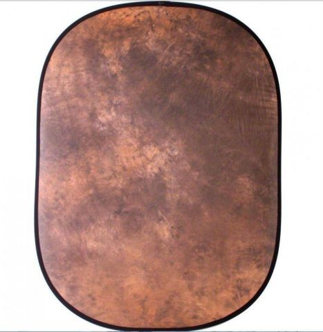 Skládací pozadí walimex, 146x200cm, hnědě batikované 16511