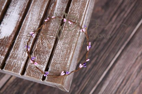 Věneček fialovo-růžový