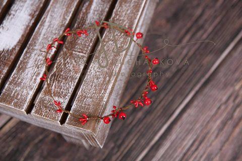 Věneček červený s bobulkami