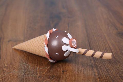 Zmrzlina dekorace - čokoládová
