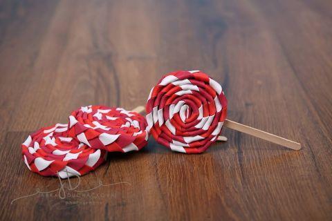 Lízátko dekorace červené