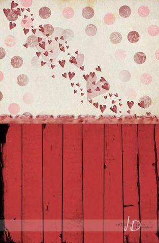 Fotopozadí - SPOJENÉ POZADÍ - HEARTS ATTACK s puntíky