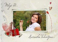 Valentýnská pohlednice s vaší FOTO! 1