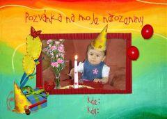Pozvánka na narozeniny s vaší FOTO! 1