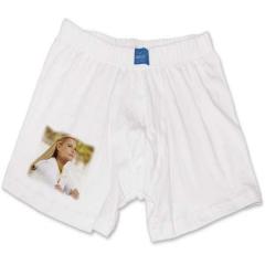 Boxerky bílé – 100% bavlna, 1x potisk cca 8x6 cm