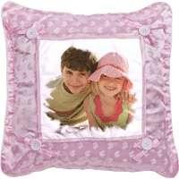 Polštářek - 1x potisk, velikost 35x35 cm, barva růžová