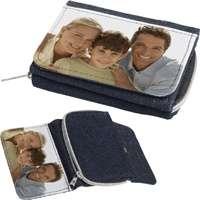 Peněženka dětská - 1x potisk, materiál textil, barva modrá