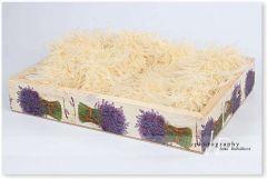 Dřevěná bedýnka - šuplíček levandulový s úchyty