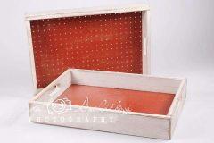 Šuplíček - bedýnka retro levandule