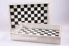 Šuplíček - bedýnka retro šachovnice