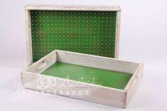 Šuplíček - bedýnka retro zelená