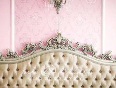Fotopozadí - POHOVKA luxusní ze zámku 4 růžová