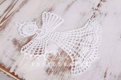 Anděl háčkovaný bílý