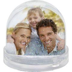 Sněžítko s vaší FOTO se stříbrnými třpytkami