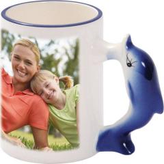 Hrnek s ouškem zvířátka s vaší FOTO - Delfín