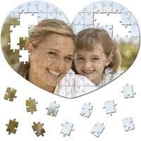 Puzzle obrázek tvar srdce - 100 dílků (rozměry 41x28,7 cm) s vaší FOTO