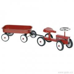 Odrážedlo – odstrkovadlo traktor s vozíkem a gumovými koly