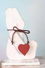 Medvídek dřevěný se srdcem