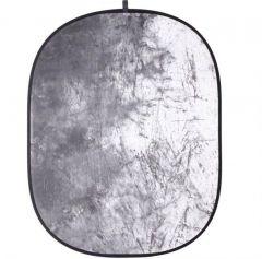 Skládací pozadí walimex, 146x200cm, sněhově batikované 16510