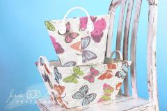 Košík s motýlky