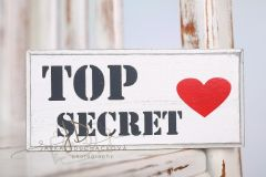 Tabulka dřevěná TOP SECRET