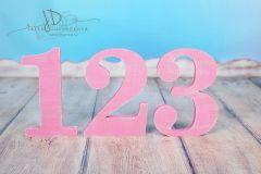SADA číslic 1 až 3 - růžová patina