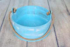 Vědro - 35cm - modrá patina
