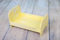 Postýlka NEWBORN žlutá patina