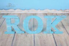 Nápis ROK - modrá patina