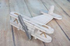 Letadýlko bílá patina