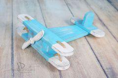 Letadýlko modrobílá patina