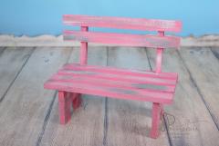 Lavička dětská dřevěná typ 2 růžová patina