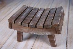 Stolička prohnutá - ořechová patina