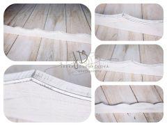 Lišta dřevěná dekorační bílá patina I.