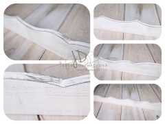Lišta dřevěná dekorační bílá patina II.