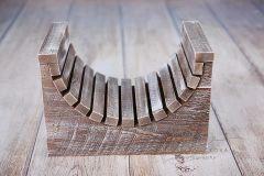Dřevěné sedátko - lehátko - ořech patina