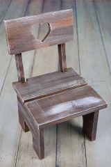 Židlička dětská ořechová patina