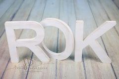 Nápis ROK - bílá patina 1