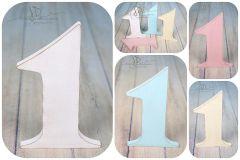 Číslice MAXI jednička bílá