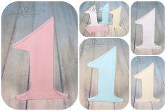Číslice MAXI jednička růžová