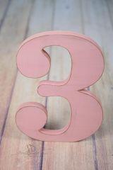 Číslice MAXI trojka růžová