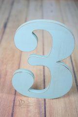 Číslice MAXI  trojka modrá