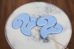 Číslo 2 modré