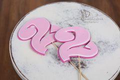 Číslo 2 růžové