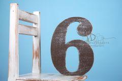 Číslo dřevěné 6