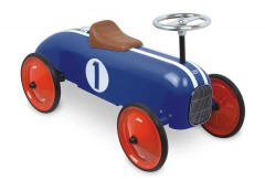 Kovové odrážedlo - Historické závodní auto - modré