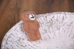 Medvídek pevný -  plstěný hnědý
