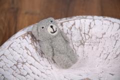 Medvídek pevný -  plstěný šedý