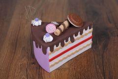 Dort - výkroj dortová fialová