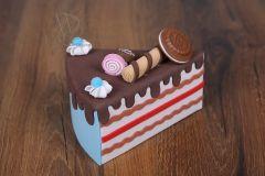Dort - výkroj dortová modrá